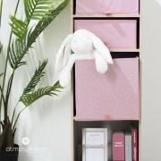 Atmosphera for kids Úložný box, krabička na hračky, dětský úložný box, box na hračky, růžová
