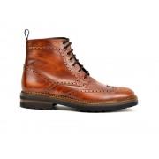 DIS - Design Italian Shoes Colombo - Anfibio a coda di rondine in pelle marrone