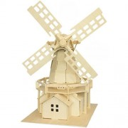 Smilelove 3D Wooden Puzzle- Holland Windmill Jigsaw Puzzle