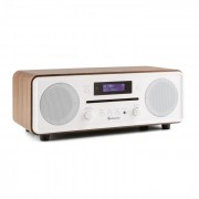 Melodia CD DAB+/UKW Desktop Radio CD-Player Bluetooth Alarm Snooze walnuss