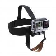 Nylon Actie Camera Helm Hoofd Strap Mount voor GoPro Hero 5 4 3 sessie SJCAM SJ4000 h9 Yi 4 K met Kin Riem Gaan Pro Sport Mount