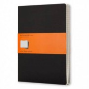 Unbranded Cahier journal (set of 3) extra large ruled soft black