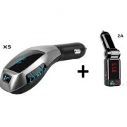 Combo of 2A CAR Bluetooth Kit With X5 Car Charger Bluetooth