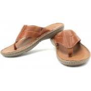 Clarks Men Mahogany Leather Sports Sandals