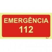 Placa de sinalização Emergência 112