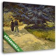 Vincent Van Gogh: Az Arles-i parkban (30x25 cm, Vászonkép )