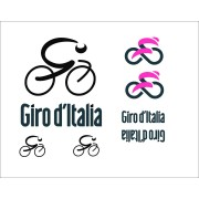 Adesivi auto bici giro d'italia con logo e scritta stickers