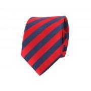 Seite Krawatte Rot Streifen - Rot