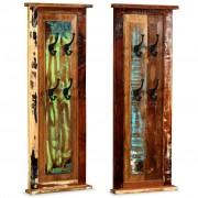 vidaXL Vešiak na kabáty, 2 ks, masívne recyklované drevo, 38x100 cm