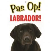 Merkloos Honden waakbord pas op Labrador 21 x 15 cm