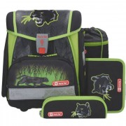 Step by Step Touch 2 Zaino scuola con accessorio set di 4pz. 38,5 cm Wild Cat