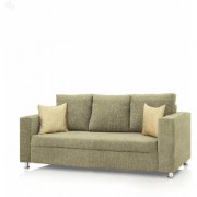 Earthwood - Fully Fabric Upholstered Three-Seater Sofa - Premium Valencia Cream