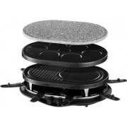 russell hobbs 21000-56 Raclette Elettrica Barbecue Da Tavolo 3 Piastre Antiaderenti Intercambiabili + 8 Padellini Potenza 1200 Watt - Fiesta Multi Raclette - 21000-56