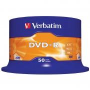 Verbatim DVD-R Rohlinge 16x AZO+ Beschichtung, 50er-Spindel