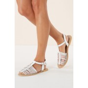 Next Fisherman Sandals - White - Womens