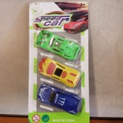 Juguete Pack 3 Autitos Plasticos -speed Car- Blister