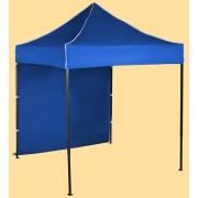 Gyorsan összecsukható sátor 2x2m – acél, Kék, 1 oldalfal