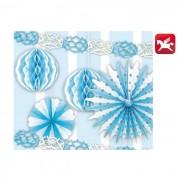Pegaso set decorazioni 6 pezzi azzurro