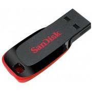 Stick USB SanDisk Cruzer Blade, 128GB, USB 2.0 (Negru/Rosu)