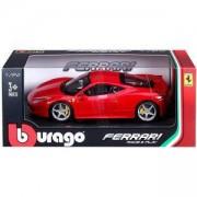 Метална количка, Bburago Ferrari - модел на кола 1:24 - 458 Italia, 093906