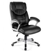 Sediadaufficio Poltrona ufficio BALTIMORE, imbottitura doppia extra comfort, resistente, in pelle color nero