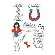 Amy Winehouse Style Temporary Tattoos - Pop Star Fancy Dress by Unknown