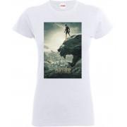Marvel Camiseta Marvel Black Panther Póster - Mujer - Blanco - S - Blanco