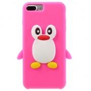 GadgetBay Coque 3D pingouin rose iPhone 7 Plus 8 Plus