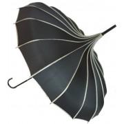 Blooming Brollies Doamnelor umbrelă cu căprioară Pagoda Black BCSRPBL