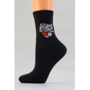 Dětské bavlněné ponožky D012 kočka-antracit