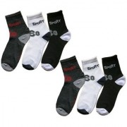 Manan fashion multi color ankle socks for men ( pack of 6 )