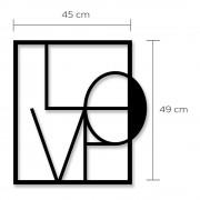 Homitis Nástěnná kovová dekorace Love