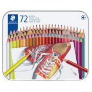 Creioane color Staedtler hexagonale 72buc/cutie metalica ST-175-M72