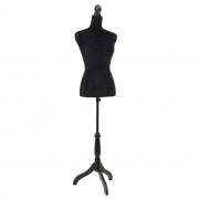 vidaXL Bust croitorie damă, Negru