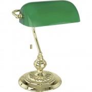 Stolna svjetiljka Banker Traditional EGLO halogena E27 60 W 90967 mjed, zelena