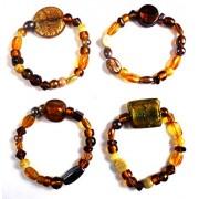 eshoppee Set of 5 pcs Beaded Designer Friendship Day Gift / Band Bracelet for Man and Women Friendship Day Bands (Friends)