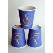 Pahar carton 8oz Blue SBP 50buc