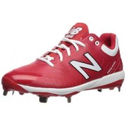 New Balance Men's 4040v5 Metal Low-Cut Baseball Cleat, Red/White, 8.5 M US