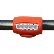 Futaba Bicycle 7 LED Silicone Safety Head Light - Red