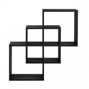 [en.casa]® Dizajnová polica na stenu - čierna - model 24