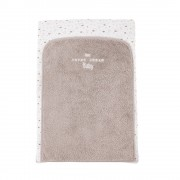 Maisons du Monde MOONLIGHT White and Taupe Cotton Baby Changing Mat 52 x 75 cm