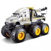Maisto Fresh Metal Builder Zone Quarry Monsters Gray Tow Truck