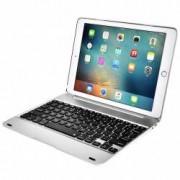 Husa carcasa cu tastatura LED bluetooth pentru Ipad Air 1 Argintiu
