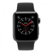 Apple Watch Series 3 Aluminiumgehäuse grau 38mm mit Sportarmband schwarz (GPS + Cellular) aluminium grau