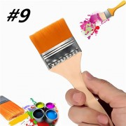 Generic Number 9 Nylon Paint Brush Artists Acrylic Oil Paint Varnish Brushes Painting