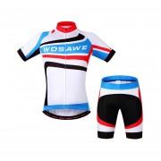 El Verano De Los Hombres En Bicicleta Ciclismo Jersey Conjunto De Camisetas De Acolchado Pantalones Cortos - Blanco+negro