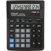 Calculator de birou, 14 digits, 193 x 143 x 38 mm, Rebell BDC 514 - negru