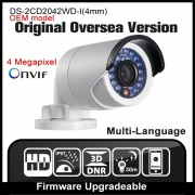 HIK OEM DS-2CD2042WD-I Original Oversea Version Multiple Language GUI Outdoor 4MP Network POE CCTV Camera Onvif