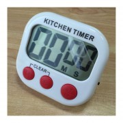 Digital Cocina Temporizador Alarma Electronica Respaldo Magnético Con Display LCD Para Cocinar, Hornear Juegos Deportivos Office (rojo)