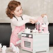 Bucătărie roz din lemn - Visul micilor bucătari
